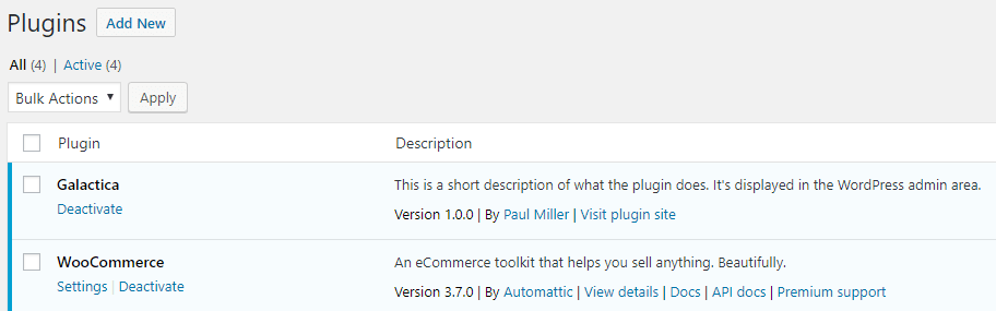 sample plugin successfully activated